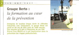 Capture de l'article issu de la revue maitriser les risques n°18