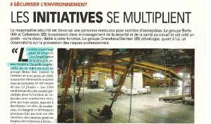 Capture d'écran de la revue l'officiel des transporteurs